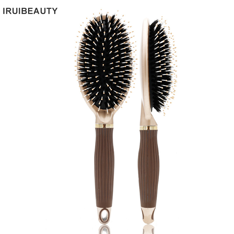 Boar Bristle Paddle Hair Brush